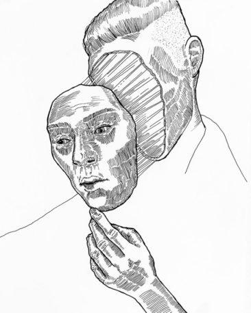 Mask 01 - Strifftease - Peter Striffolino Art