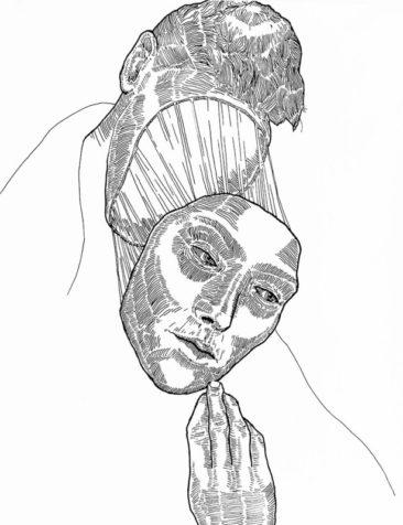 Mask 02 - Strifftease - Peter Striffolino Art